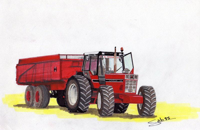 Dessine Moi Un Tracteur Rouge