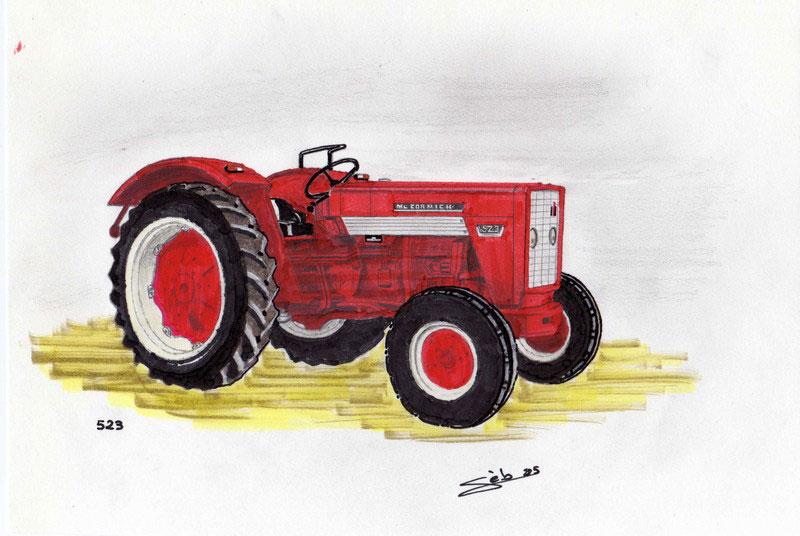 Dessine moi un tracteur rouge - Dessin d un tracteur ...