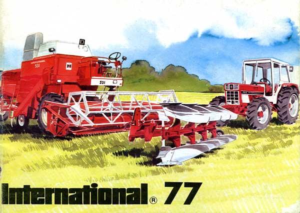 echange de prospectus ih les tracteurs rouges. Black Bedroom Furniture Sets. Home Design Ideas